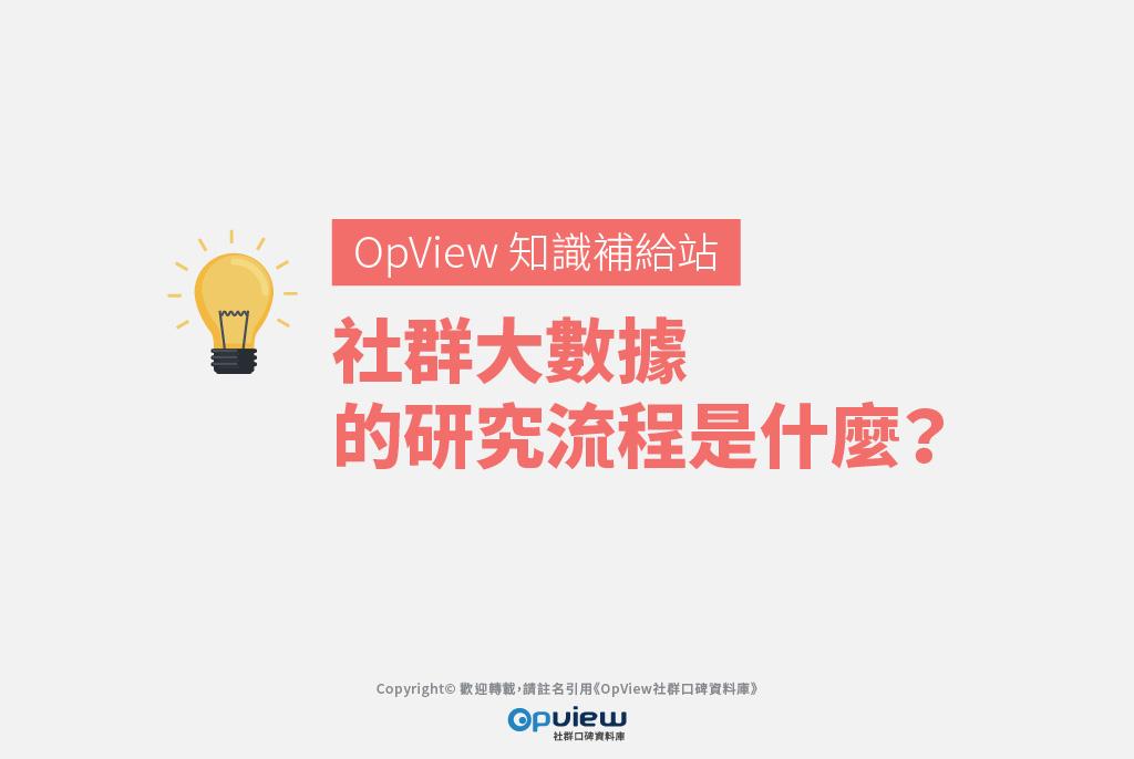 【OpView 知識補給站】社群大數據的研究流程是什麼?