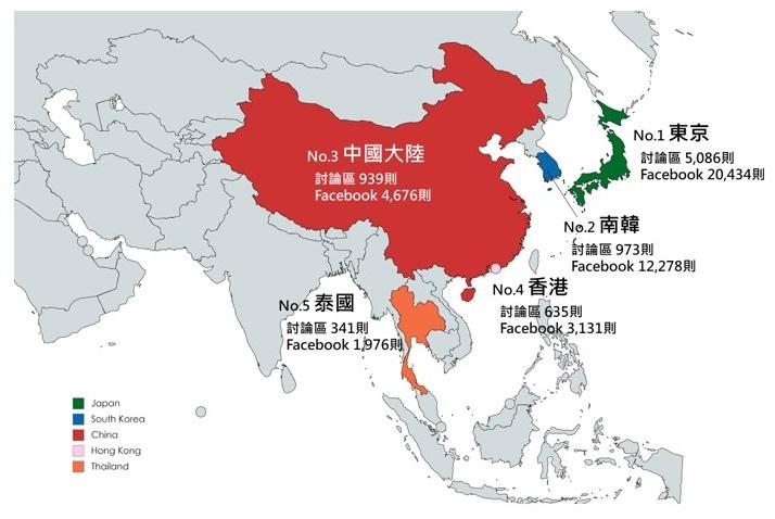 OpView輿情聲量分析_春節旅遊國家排行榜