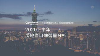 產業聲量報告》2020下半年房地產網路聲量分析