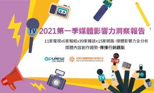 產業聲量報告》2021年第一季媒體影響力洞察報告